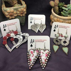 💝 Sale Fashion Jewelry Heart Earrings